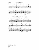 3rds in c major – guide fingers_vn