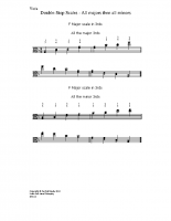 Double-stop scales – all majors & minors_va