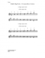 Double-stop scales – all majors & minors_vn