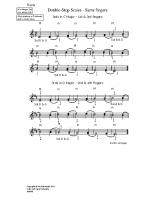 Double-stop scales – same fingers_vn