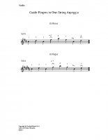 Guide fingers in one-string arpeggio_vn