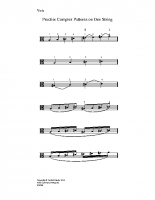 Practise complex patterns on one string_va