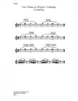 Use vibrato as practice technique_va